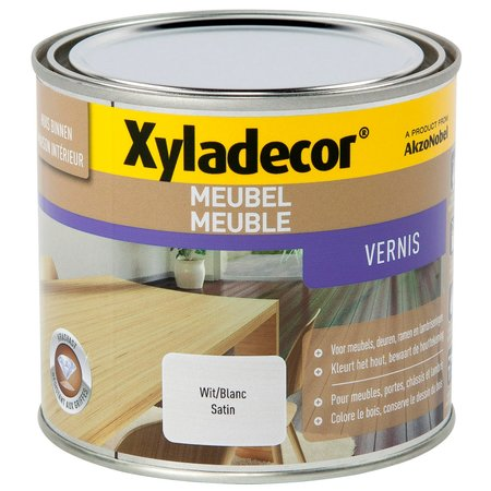XYLADECOR MEUBEL VERNIS SATIN WIT 500ML