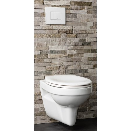 HANG TOILET BASIC EX. BRIL WIT RIMLESS P-TRAP