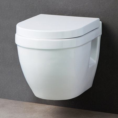 HANG TOILET DESIGN MET BRIL WIT