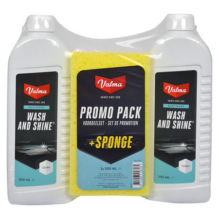 WASH & SHINE SET VALMA + SPONS 2X500ML